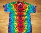 Dark Rainbow Crush Tie Dye, XS S M L XL 2X 3X 4X 5X 6X Kids Adult Plus Size Rainbow Tie Dye Shirt