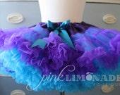 FREE SHIP Peacock Purple and Turquoise Ultra Premium Fluffy Pettiskirt Tutu 2T 3 4 5 Girls 6 7 8 Birthday Party Wedding Flower Girl