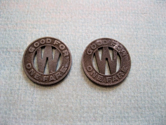 Vintage Woodlawn And Southern Transit Tokens