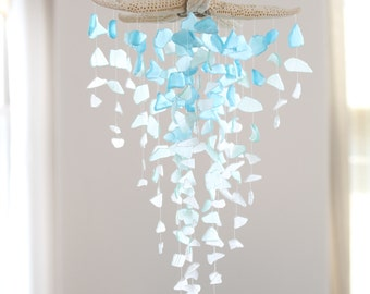 Sea Glass & Starfish Mobile - Grand Ombre
