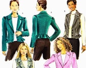 PATTERN Butterick 4862 Ladies set of cropped semi fitted jackets with variations Size 6-8-10-12 (uncut)