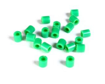 5mm green tube acrylic beads - large hole - Hama beads - Fuse beads (1468) - Flat rate shipping