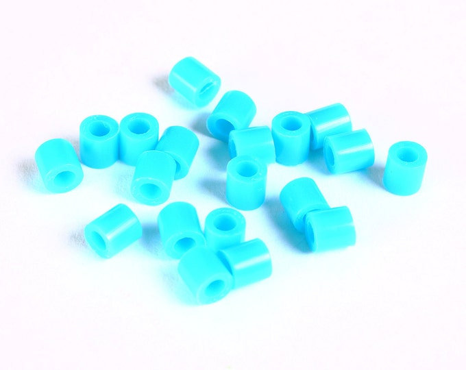 5mm blue tube acrylic beads - large hole - Hama beads - Fuse beads (1471) - Flat rate shipping