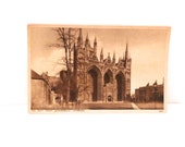 Peterborough Cathedral Postcard England Great Britain Vintage Walter Scott Antique West Front Cathedral Church Post Card 1930s Free US Ship