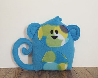 Blue Monkey Stuffed Animal Room Decor