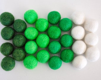 St. Patrick's Felt Balls, Saint Patrick's Day Felt Ball Set, 28 Pieces Wool Felt Balls