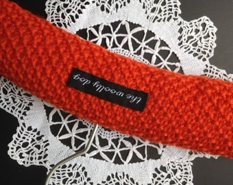 Baby Shower Gift, Baby Hangers, Children's Hanger, Padded Hangers, UK Seller, Orange, Pure Wool,