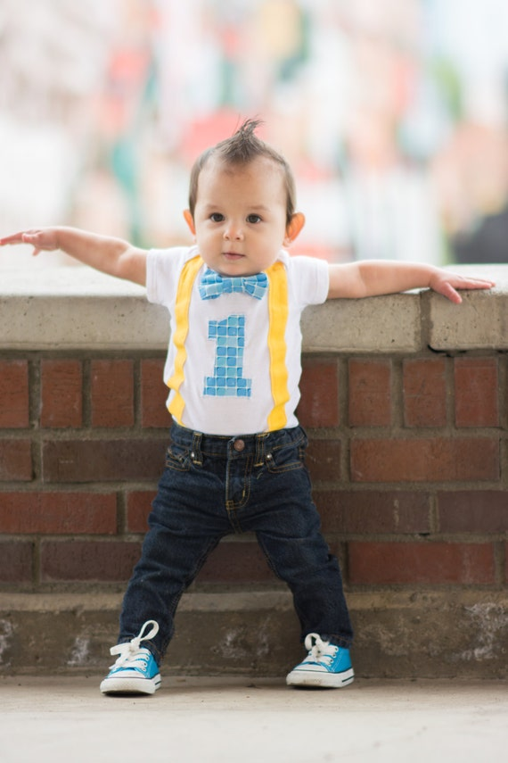 Items similar to First Birthday Bodysuit Boys First Birthday First Birthday Outfit Boys First ...
