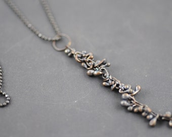 Contemporary Oxidized Argentium and Sterling Silver Metalwork Kinetic Necklace