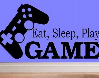 Eat sleep play Game wall decal WD kid decor nursery decal video game decal boy decal home decor decal for men wall decal living room