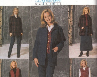 Winter Wardrobe Pattern Butterick 4035 Size 8, 10, 12 Uncut