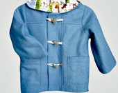 Hooded Duffel Coat Toggle Jacket for Boys or Girls, Size 6 months - Childrens 8
