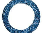 Blue Paisley Steering Wheel Cover-Car Accessory-Girly Car Decor-Wheel Cover for Women-Paisley Car Wheel Cover