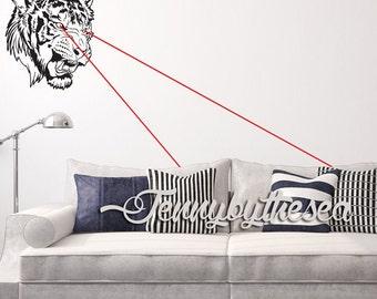 Laser Tiger wall decal Huge Cut Vinyl wall sticker art