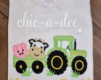 Personalized Tractor with Animals
