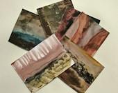 Abstract Decorative Original Artwork On Postcards, Set of six - S4 - maaikevannierop