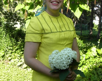 Bright Yellow Sheath Dress