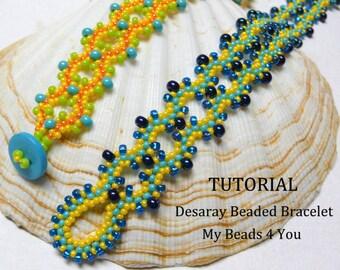 Beading Bracelet Tutorial Pattern,Beaded Bracelet Pattern,Beadwork Instructions, Seed Bead Tutorial, Beadwoven Pattern, MyBeads4You Tutorial