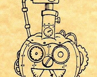 Retro Steam Punk-in Rubber Stamp / Steampunk / Halloween