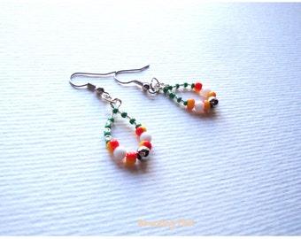 Beautiful pearl earrings,Elegant handmade multicolor earrings