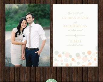 5x7 Save the Date Card Template - S32