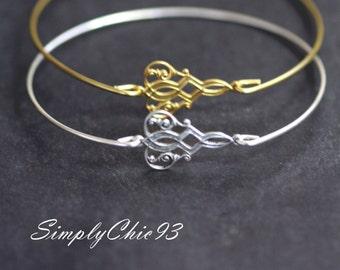 Moorish style silver bangle, Silver Bangle, Filigree Bangle, Gold Bangle,Vintage Bracelet