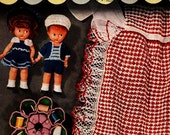 1950s Crochet Money Makers Pattern Book Dolls Sewing Basket Pincushion Apron Slippers Doily Gifts How To Booklet