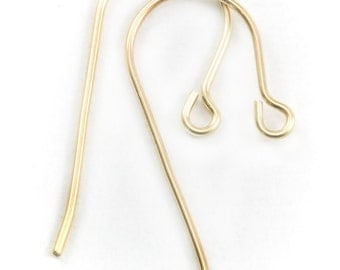 14k Yellow Gold French Earwires