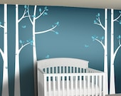 Birch Tree Wall Decals - Woodland Nursery Decor - Nursery Wall Decal