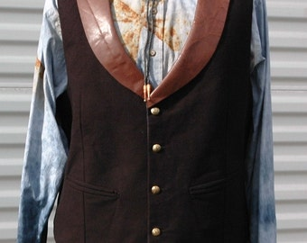XL Mens Steampunk Vest The Illustrated Man