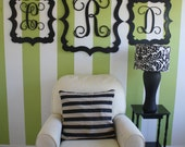 Set of Three Painted Wooden Frames with Initials-Perfect to Frame Wooden Monogram Initials or Add to an Accent Wall.