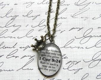1 Corinthians 9:24 Bible Verse Necklace