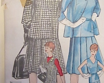 Vintage 1950's Vogue Pattern 4282 One Piece Dress and Jacket size 16