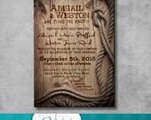 Rustic Wedding Invitation - DIY - Printable - Customizable - Western