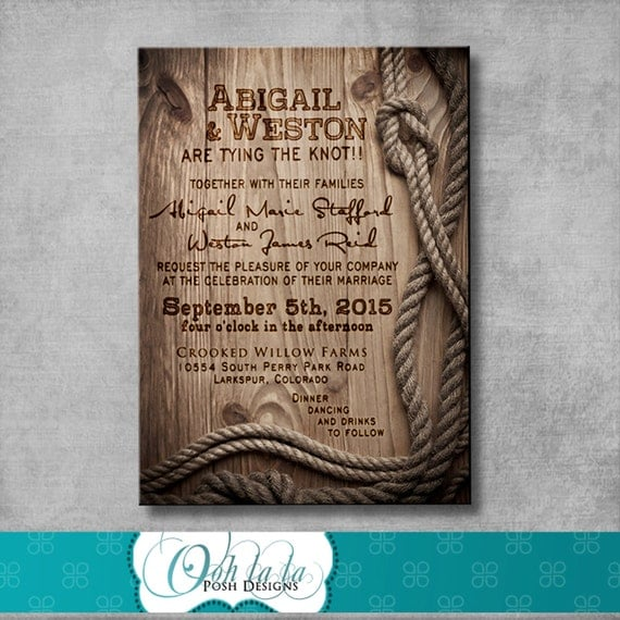 Rustic Wedding Invitation - DIY - Printable - Customizable - Western
