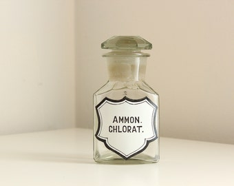 Rare 19th C. Chemist Apothecary Bottle for Ammonium Chlorate