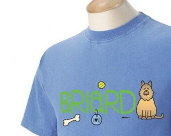 Briard Doodle Garment Dyed Cotton T-shirt