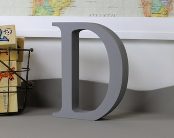 Wood Letters - Free Standing Distressed Wooden Letters - Alphabet Decor Letter D