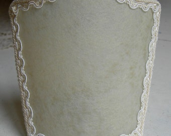 Pair of Wall Sconce Venetian Shield Shades Veined Parchment Clip On Mini Lamp Shade - Handmade in Italy