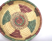 Woven Raffia Serving Basket Tray