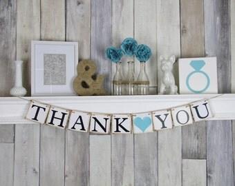 Thank You Banner, Thank you Wedding Sign, Wedding Thank you, Blue wedding