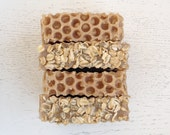 SOAP - Oatmeal, Milk,  and Honey Handmade Soap with Local Organic Honey - Cold Process - oatmeal soap