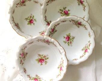 Vintage Johann Haviland Bavaria Germany Bowls Set of 4 Little Princess Birthday Party
