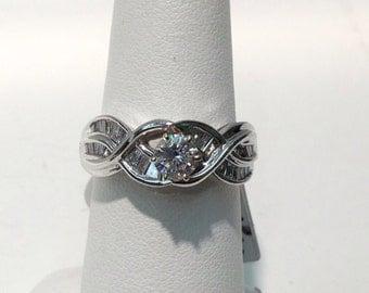 Vintage Diamond Engagement Ring in 14K Gold