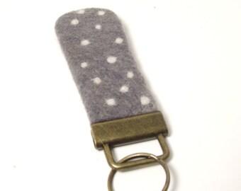 Felt Dotted Keychain, Key chain, Key Fob