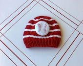 Newborn knit baseball hat