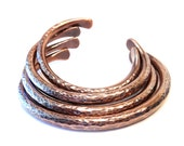 Bracelet Bangle Cuff Thick Copper Metal Work