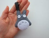 Totoro felt plush keychain