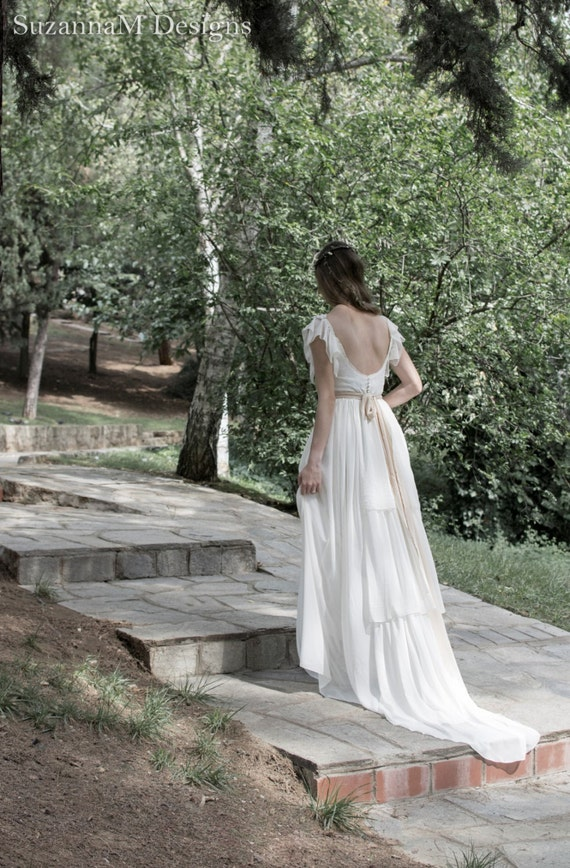 Boho Wedding Dress S Perth : Wedding dress long boho gown bridal gypsy