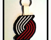 Rip City Beaded Keychain